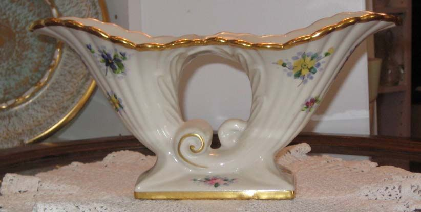 Osborne China  Abingdon #482 Double Cornucopia