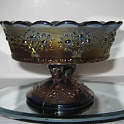 Fenton Orange Tree Carnival Glass Jam Compote