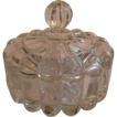 Heisey Crystolite Puff Box Powder Jar Dresser Jar Candy Box