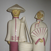REDUCED Hedi Schoop Chinese Couple with Buckets