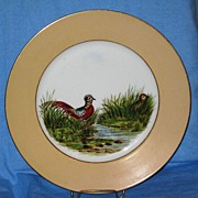 REDUCED Haviland Limoges Game Birds Plate Tan