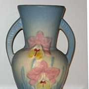 REDUCED Hull Pottery Orchid Vase Blue