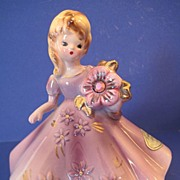 Josef Originals Birthstone Doll February