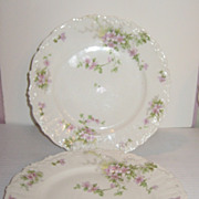 Picardy Rose Elite Works Limoges Plate
