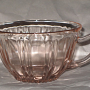 Old Cafe pink depression glass Cup