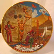 REDUCED Circus Midway Collector Plate