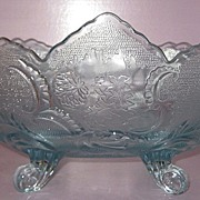 REDUCED Jeannette Glass Co. Banana Boat Bowl Louis XV