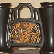 Roseville Rosecraft Panel Double Bud Vase