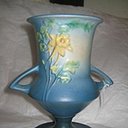 SOLD Roseville Columbine Vase blue 151-8