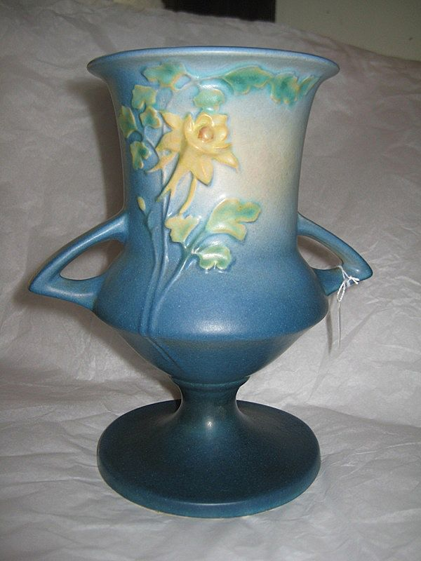 Roseville Columbine Vase blue 151-8