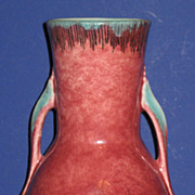 "Roseville Orian Vase 8"" red"