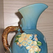 Roseville Apple Blossom Ewer 316-8 Blue