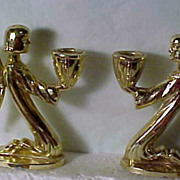 REDUCED 1950's Angel Candle Holders
