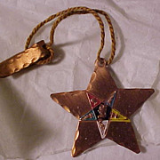 SALE 1950's Enameled Eastern Star Book Mark