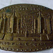 SOLD 1933 Elongated Penny World's Fair Chicago, Travel Bldg.
