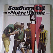 1979 Southern Cal / Notre Dame Program Football