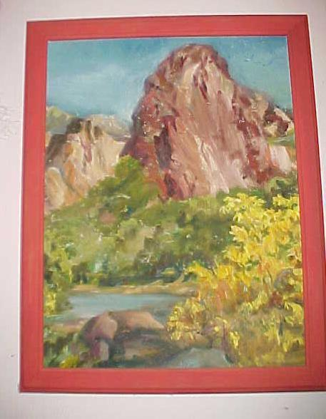 Coilal Virgin River, Utah, Oil on Canvass by McConnell