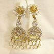 Vintage Rhinestone Crystal Glass Chandelier Earrings � Kenneth Jay Lane Shoulder Duster Earrings - KJL Vintage Rhinestone Jewelry