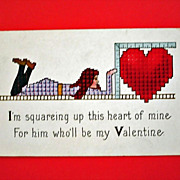 SALE Vintage STECHER Embossed Valentine Postcard  Stecher Series 154 F