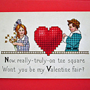 SALE Vintage STECHER Embossed Valentine Postcard  Stecher Series 154 E - Unused