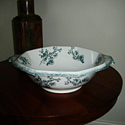 "Antique WH Grindley Transferware Wash Bowl - Doreen Pattern - 18"" - Staffordshire, Englan"