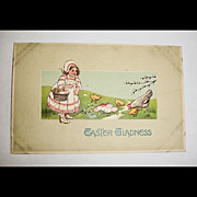 Vintage Embossed Easter Post Card - Unused - Antique Postcard