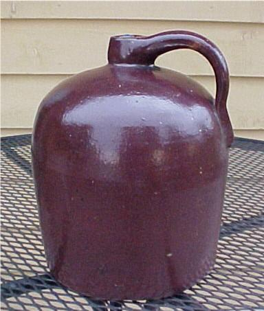 Antique Brown Beehive Stoneware Jug