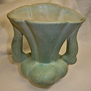 "Vintage NILOAK Pottery Vase in Light Green � 6"" High"