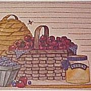 SALE Vintage Recipe Cards by Deb Strain - Old Card Stock -   Baskets