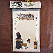 Vintage Deb Strain Notepad - Rabbit - Unused Old Card Stock