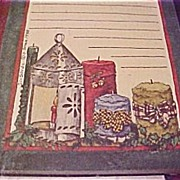 Deb Strain - Vintage Notepad w/Candles - New UNopened card Stock