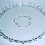 Very Elegant HEISEY Glass Cake Plate - Serving Platter - Lariat Pattern 14&quot; Torte Plate