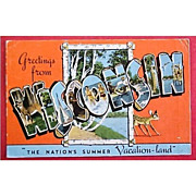 Vintage Wisconsin Postcard 1947