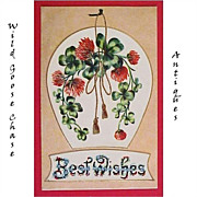 Vintage Best Wishes Greeting Postcard