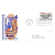 SALE FDC First Day of Issue - Honoring American Music - 1964 - Cachet Craft - Ken Boll  - FREE