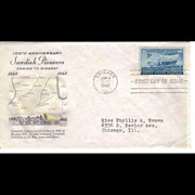 FDC First Day Of Issue - Swedish Pioneers - 1948
