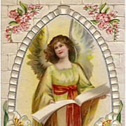Vintage Embossed Easter Greeting Postcard - Angel Post Card