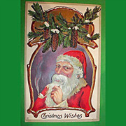 SALE Vintage Santa Claus Post Card - Christmas Holiday Greetings Postcard