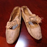 Exquisite Early Girl's French Dress Shoes