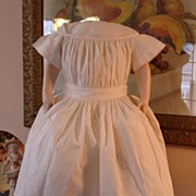 "1860's Cotton ""Spotted"" Dimity Child's Dress~Perfect for Large China or Mache"
