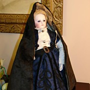 REDUCED Fabulous Antique Velvet French Fashion Hooded Cape
