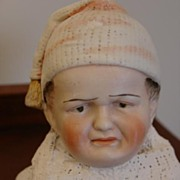REDUCED Rare Heubach Character Head~Scowling Child with Nightcap