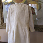 SALE Sweet Ivory Muslin Dress for Large Doll