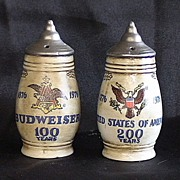 Budweiser Steins 100 Anniversary Salt and Pepper