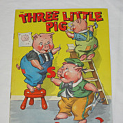1942 Three Little Pigs Book by Whitman Publishing Co.