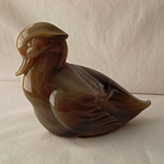 Caramel Slag Sitting Duck by Imperial Lenox