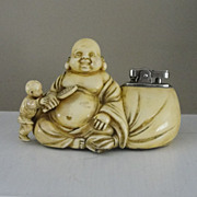 RARE 1950's Prince Hotei God Table Cigarette Lighter