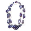 Chunky Strand of Natural Raw, Polished Amethyst Necklace