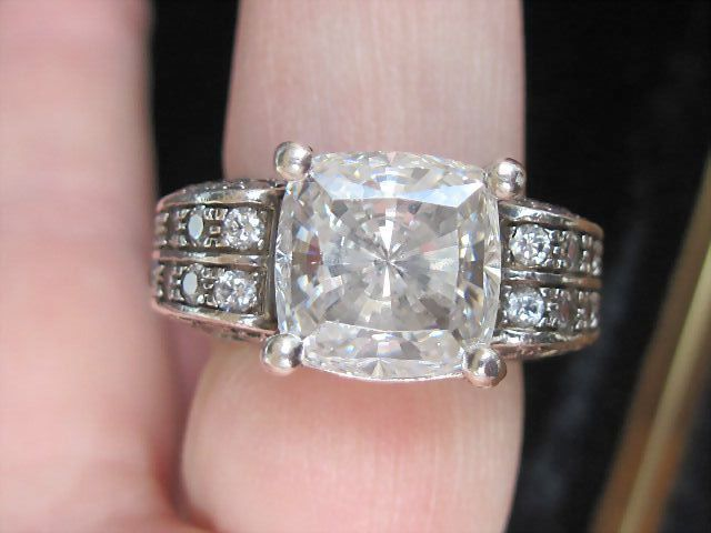 "Lovely Older Designer ""Victoria Wieck"", Engagement Ring"