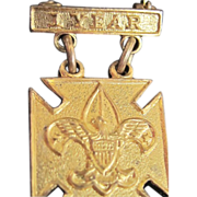 Vintage Gold Plated 1st Year Boyscout Medal *Free Shipping!